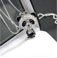 Cheap Pendant Necklaces Full Crystal Panda Pendant Necklace Best OTHER Women's Cute Panda Necklace