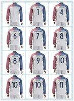 france - Fast Uniforms Kit European Cup France GRIEZMANN GIROUD POGBA BENZEMA Soccer Jersey White Long Sleeve Jerseys Shirt