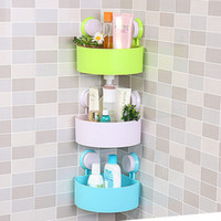 bamboo wall shelf - Lovely Bathroom Corner Storage Rack Organizer Shower Wall Shelf with Suction Cup hot search