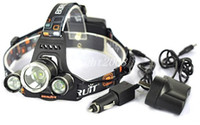 Wholesale 3T6 Headlamp Lumens x Cree XM L T6 Head Lamp High Power LED Headlamp Head Torch Lamp Head charger car charger