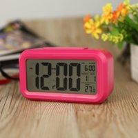 Wholesale Anself LED Digital Clock Repeating Snooze Alarm Clock Light activated Sensor Table Clock Backlight Time Date Temperature Display
