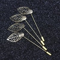 Wholesale 1 cm gold leaf Plated Copper Hat Brooch pins Diy Jewelry Findings Jewelry Accessories brooch lapel pin base for women men s