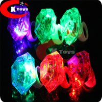 Wholesale The New LED Light Emitting Lamp Ring Bar KTV Dance Concert Cheer Big Diamond Ring Light Props
