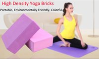 Wholesale High Density Yoga Blocks EVA Home Exercise Fitness Health Gym Yoga Blocks Yoga Beginners Tool Waterproof Colors Hot