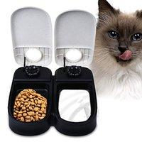 animal control supplies - Pet Feeder Dog Cat feeder Bowl Automatic Pet Feeder Timer Portion Control Pet Feeder Pet Cat Puppy Animal Food Supplies Bowls