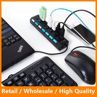 Wholesale Multi Ports High Speed USB Hub Mbps Hub USB on off Switch Portable USB Splitter Peripherals Accssories for Computer PC