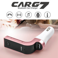 Wholesale Bluetooth Car Charger FM Transmitter Hands free Phone TF USB MP3 Music Player Receiver G7 Car Kit with Digital Display for Smartphone