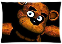 Wholesale Custom Five Nights At Freddy s Rectangle Standard Size Zippered Bedding Set Pillow Case Two Sides