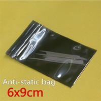 CPP antistatic packaging bag - 100pcs cm Anti Static Shielding Bags ESD Anti Static Pack Bag Zip Zipper Lock Top Waterproof Self Seal Antistatic Package Bag