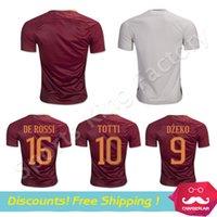 anti wrinkles - DZEKO soccer Jersey TOTTI HOME away EL SHAARAWY DZEKO DE ROSSI thai quality romaes football shirt soccer jersey