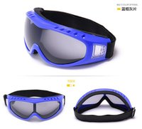 Wholesale Skiing Sled safety goggles glasses PC Lenses ski snowboard goggles For Eye Protective Windproof Bicycle Bike Motorcycle Protective Glasses