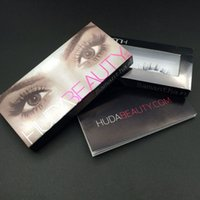 Wholesale 12pairs Huda beauty false eyelashes Messy Cross Thick Natural Fake Eye Lashes Professional Makeup Bigeye Eye Lashes FS001