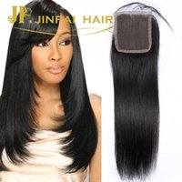 Wholesale straight top lace closure brazilian straight virgin human hair extensions size human hair lace closure