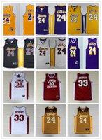 basketball tshirts - 100 Stitched Kobe Bryant Basketball jerseys Kobe Men basketball tshirts Los Angels night black golden white purple Kobe jerseys