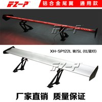 Wholesale The car with light tail tail three Aluminum Alloy monolayer car general wing drilling automobile tail
