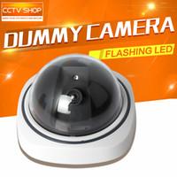 Wholesale Mini Dome Outdoor Indoor Fake Security Dummy CCTV Surveillance Camera Night CAM LED Light
