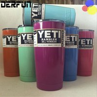 Wholesale 7 Colors Yeti Cup oz Rambler Tumbler Bilayer Stainless Steel Insulation Cups Cars Beer Mug Large Capacity Mug Tumblerful