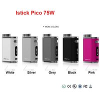 Wholesale Authentic Eleaf iStick Pico W Mod with Top Quality ecigs VW TC Bypass box mod Single rechangeable battery mod simple pack