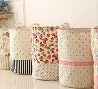 Wholesale Large Capacity Laundry Basket House Cloth Storage Case Cotton Linen Storage Bag Mix design Hot Selling