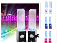Cheap NEW USB Mini 2.1 Dancing Water Speaker USB LED Light Led Portable Speaker for PC MP3 MP4 PSP 3.5MM 2013 Novelty speaker