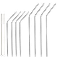 beer packing - 304 Stainless Steel Straw Metal Drinking Straw Beer Juice Straws Cleaning Brush Set Retail Packing Kit Fits Yeti Tumbler Rambler Cups