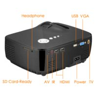 Wholesale AUN Projector Lumens Support x1080P Analog TV LED Projector MINI Projector for Home Cinema Digital TV Free Cable AM01