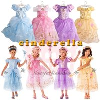 Cheap Kids baby sleeping beauty Rapunzel snow white Cinderella belle frozen princess children party costume dress girls tutu ball gown Z571