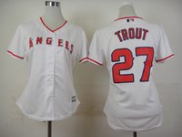 angels baseball logo - Los Angeles Angels Cool Base Womens Jerseys Mike Trout White Baseball Jerseys Stitched Name Number and Logos