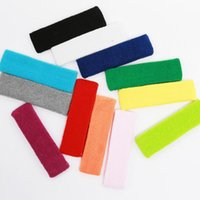 Wholesale Hot new fashion female male sweat sweatband headscarf yoga gym outdoor sport basketball football elastic stretching with a variety of colors