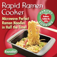 Cheap Rapid Ramen Cooker Worlds Fastest and Easiest Way to Cook Ramen Noodles 1 Set of 2