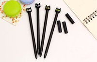 Wholesale Black Cat Gel pen cute cat Gel pen kawaii writing stationery gift papelaria office school supplies