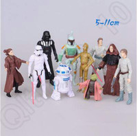 Wholesale Star Wars cm set The Force Awakens Yoda Darth Vader Action Figure Juguetes Toys Kids Toys Birthday Gifts CCA5064 set