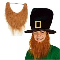 Wholesale Halloween Adult Cosplay Costumes Funny Party Big Fake Beard Moustache Mustache Facial Hair Cosplay Party Costume Theme Prop Decoration