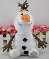 Wholesale Frozen OLAF Plush Toys Snowman Doll Cartoon Movie Stuffed Dolls Princess Elsa Anna Baby Snowman Toy