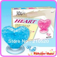 Wholesale Love Heart IQ Toy Educational Toys D Crystal Puzzle Jigsaw Model DIY Furnish Gift Souptoy Gadget