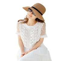 Wholesale New Fashion Women s Ladies New Sunhats Summer Beach Sun Hat Straw Elegant Bohemia Cap QJ