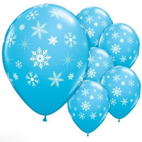 Wholesale Christmas Latex Balloon Birthday Party Supplies Decorations Frozen Snowflake