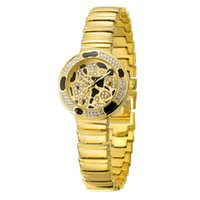 accurate gold jewelry - Wristwatches For Alloy China fashion women watch waterproof circular glass golden white rose gold Keep accurate time