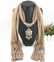 Wholesale Lady Multi Crystal Necklace - Newest Cheap Fashion Lady Scarf Direct Factory Geometrical Pendant Scarf Necklace Winter Scarf Women Neckerchief From China