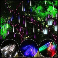 ac snow - 20 cm Meteor Shower Falling Rain Snow Drop Icicle Christmas String Lights LLWA225