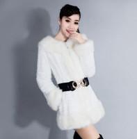 angora wool coat - New Arrival Hot Sale Fashion Wool Fur Collar Lovely Girl Cute Female Woolen Cotton Slim Angora Fur Warm Fur Models Coat