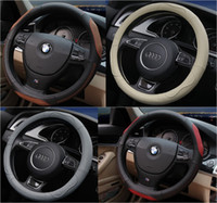 Wholesale 2016 Fashion Leather Car Steering Wheel Cover Steering Covers For Toyota Nissan Chevrolet ect Car Styling