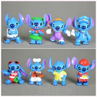 baby blue doll - Mini Anime Cartoon Lilo Stitch Mini PVC Action Figure Toys Dolls Baby Toys Gifts