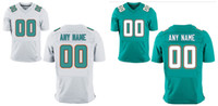 Wholesale HOT SALE Men s Miami Dolphin Custom Elite Football Jerseys High Quality Stitched Any Name and Number You Decide Three Colors Allowed
