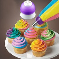 Wholesale 3 Color Cake Decorating Tools Icing Piping Cream Pastry Bag Nozzle Converter