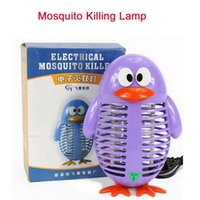 Wholesale 2016 Cartoon Electronic Mosquito Killing Lamp Mosquito killer Light Mosquito repellent lamp Pest Control Mosquito Buster Free DHL