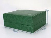 Wholesale wooden box Luxury Green With Original Ro Watch Box Papers Card Wallet Boxes Cases Luxury Watches watch box green