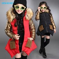 Wholesale 2016 Fashion parkas girl clothing brand kids clothes winter children outerwear coats princess girls jacket children s wear