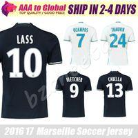 Wholesale Marseille football jersey Marseille Batshuayi LASS soccer jerseys away black shirts Cabella soccer jersey