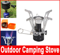 Wholesale Outdoor Picnic Burners Stove Camping Gas Stove Portable Folding Mini Burners Electronic Lgnition New Super Lightweight With Box